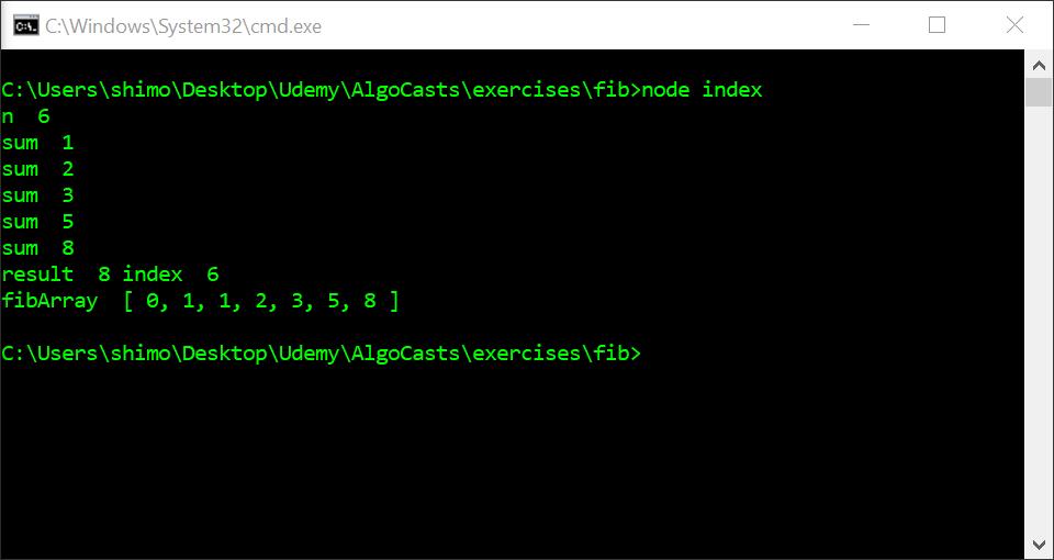 Javascript Problems – Fibonacci Sequence – Brian Hafner Tech Blog